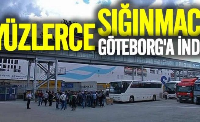 Sabahın ilk ışıklarıyla Göteborg'a yeni mülteciler indi