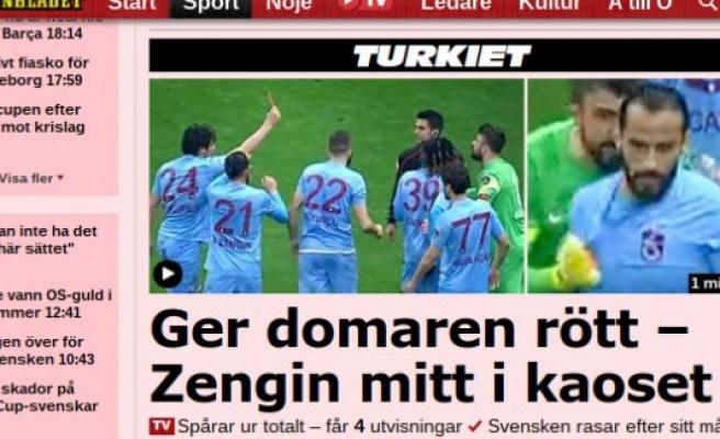 Salih Durmaz'ın kırmızı kartı İsveç basınında