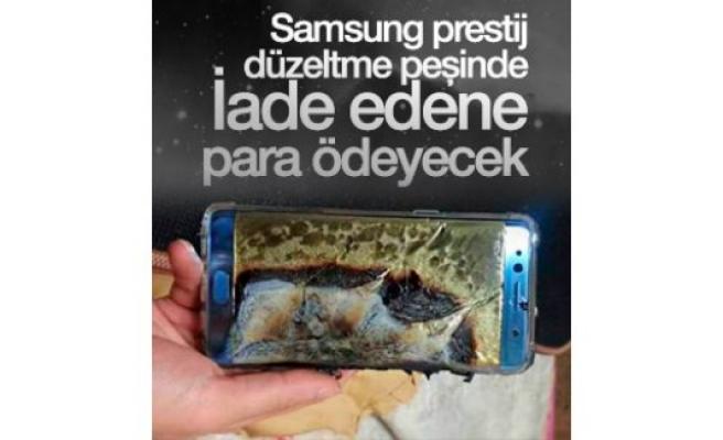 Samsung, Note 7'leri iade edene para ödeyecek