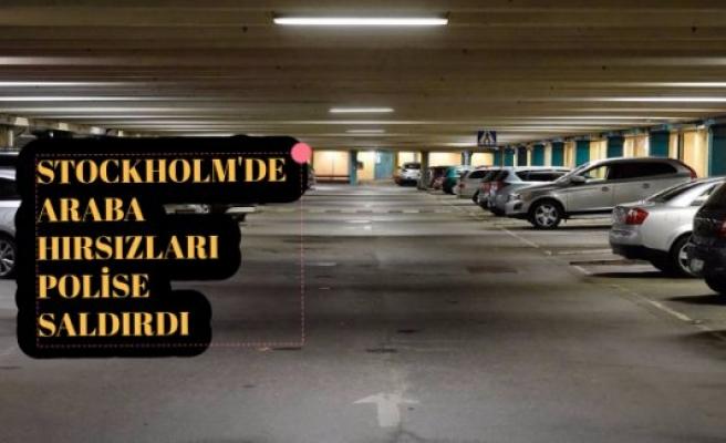 Stockholm'de araba hızrsızları polise saldırdı