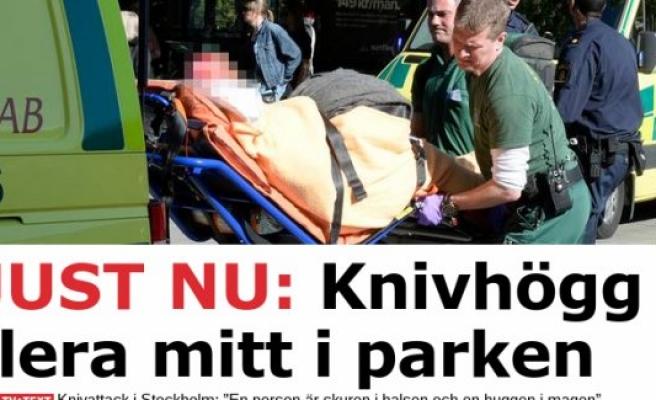 Stockholm'de cadde ortasında 2 bayan bıçaklandı