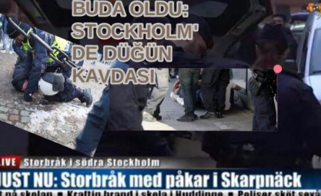 Stockholm'de Düğünde Çıkan Kavgada 30 Kişi Birbirine Girdi