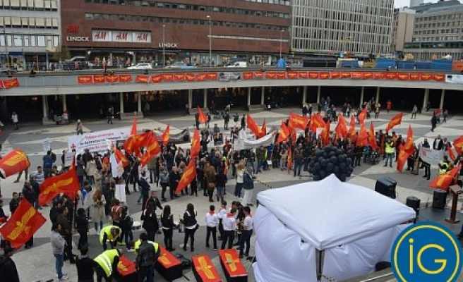 Stockholm'de fiyasko Sözde Soykırım Protestosu