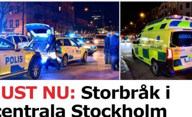 Stockholm'de iki grup arasında kavga