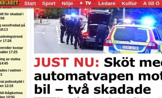Stockholm'de İki Kişi Vuruldu