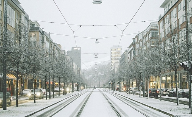 Stockholm'de yılın ilk karı yağdı