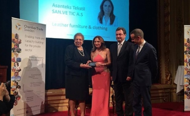 Stockholm'de büyük ödülü Türk iş kadını aldı