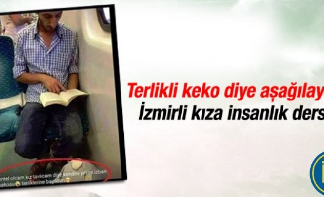 Terlikli keko diye aşağılayan Izmirli kıza insanlık dersi