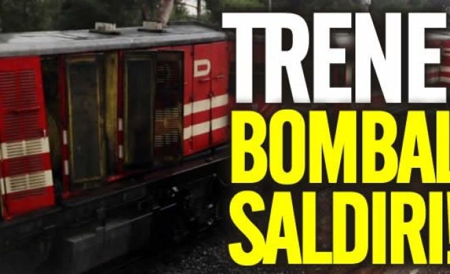 Trene bombalı saldırı!