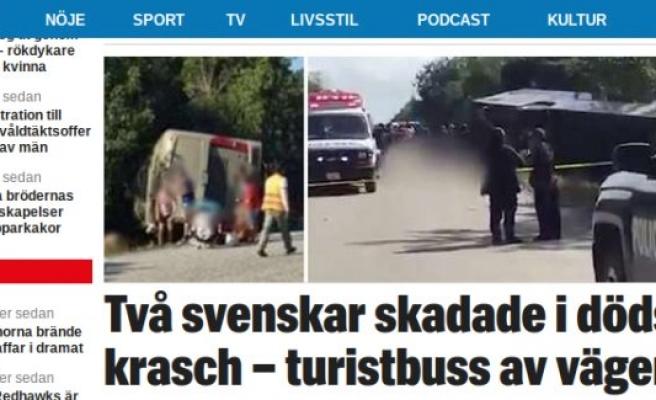 Turist otobüsü devrildi: 12 kişi öldü, 2 İsveçli yaralı