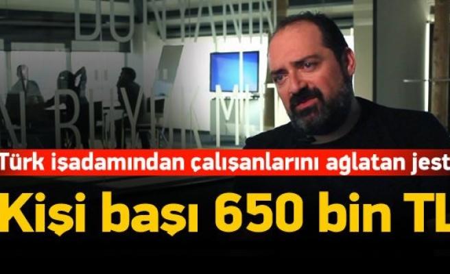 Türk işadamı çalışanlarına 27 milyon dolar dağıttı