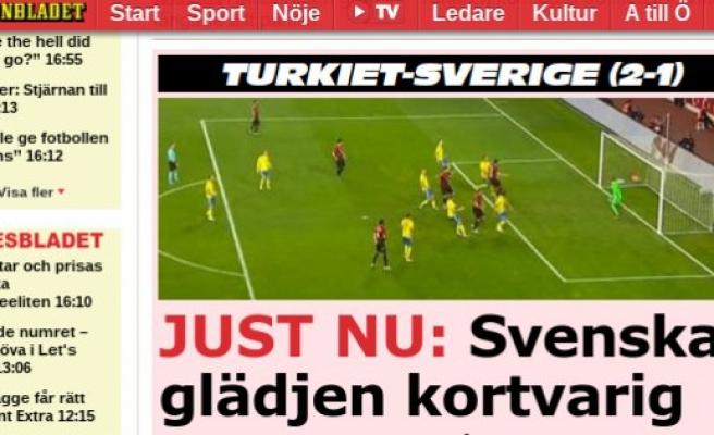 Türkiye'nin Galibiyeti İsveç Basınında Geniş Yer Aldı