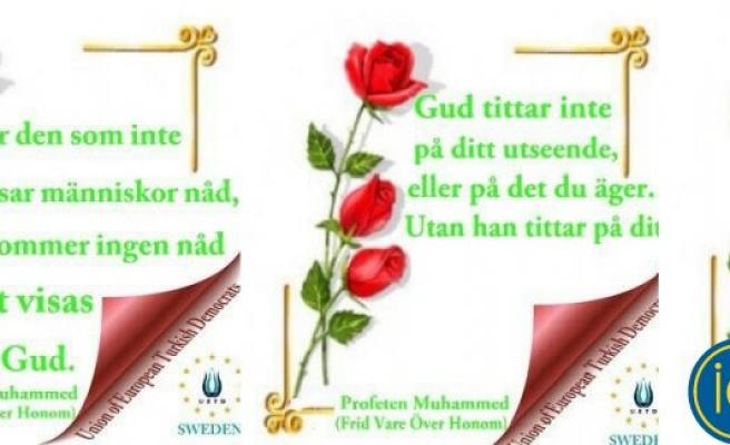 UETD, İsveçlilere peygamberimiz için gül dağıtacak