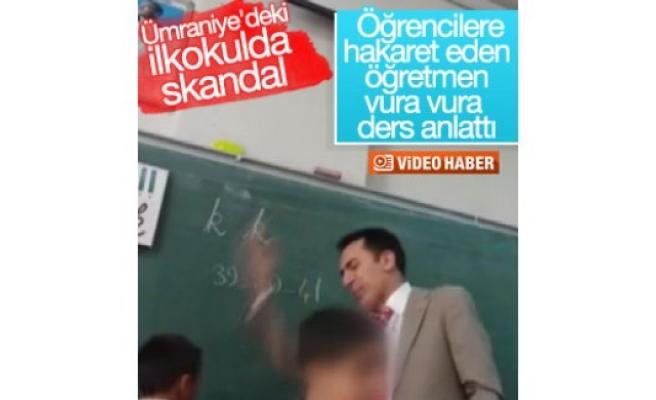 Ümraniye'deki okuldan skandal görüntüler