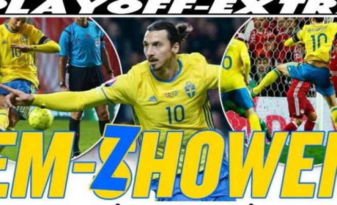 Zlatanlı İsveç Euro 2016'da!