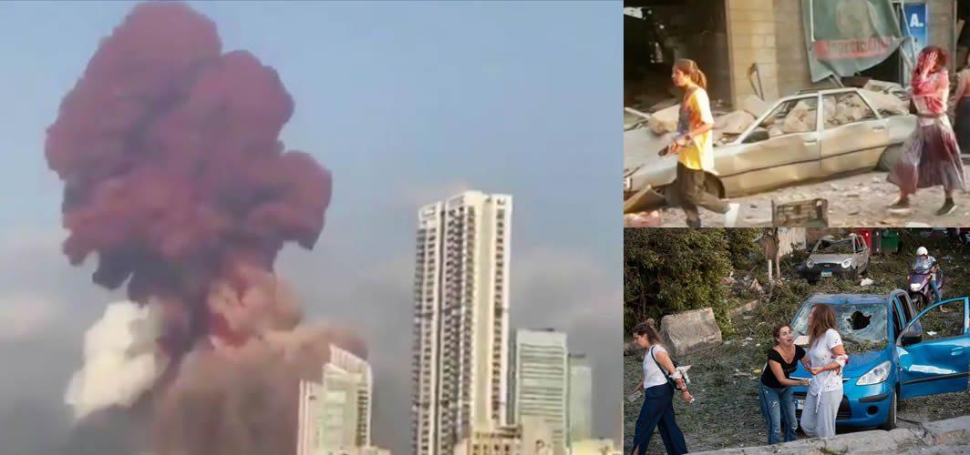 Beyrut'tan acı görüntüler: Çok sayıda insan enkaz altında!