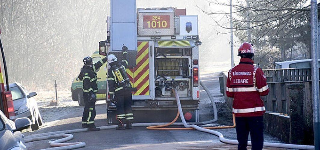 Villada çıkan yangında bir çocuk yaşamını yitirdi