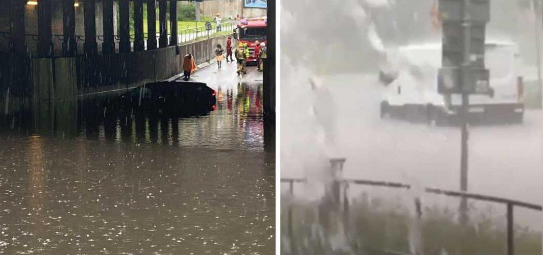 Aşırı yağış, sel taşkını ve Stockholm'de alışılmamış su baskını görüntüleri