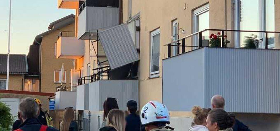 İsveç'te balkon çöktü! Üç kişi yaralandı