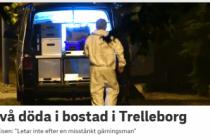 Trelleborg'de iki kişi ölü bulundu