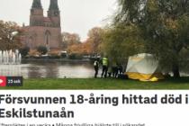 İsveç'te kayıp genç ölü bulundu