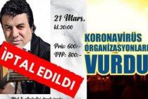 Turkisk afton Stockholm Coşkun Sabah konserini koronavirüs nedeniyle iptal ettiğini duyurdu