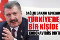 Türkiye'de ilk koronavirüs vakası!