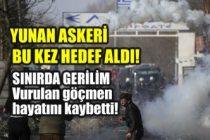 Yunan askeri Suriyeli göçmeni vurarak öldürdü! İşte tüm ayrıntılar