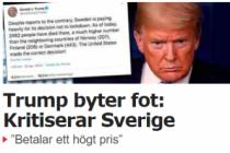 Trump, İsveç stratejisini sabah övdü, akşam eleştirdi
