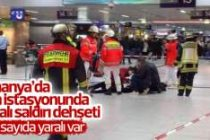 Almanya'da tren istasyonunda baltalı saldırı