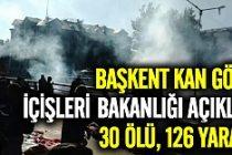 Ankara'da 2 ayrı patlama: En az 30 ölü 126 yaralı