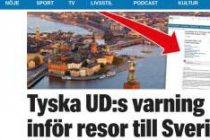 Almanya'dan şok uyarı! İsveç'te  Terör saldırısı olabilir