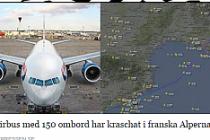 Avrupa'nın göbeğinde uçak düştü:148 ölü