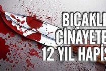 Bıçaklı cinayete 12 yıl hapis!