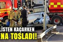 Göteborg'da müthiş kovalamaca kazayla bitti