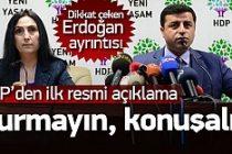 HDP'den operasyon sonrası ilk resmi açıklama