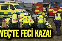 İsveç E22 karayolunda feci kaza!