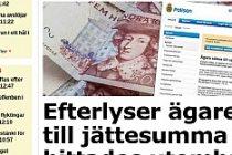 İsveç polisi, sokakta bulunan 200 bin kronun sahibini arıyor