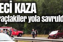 İsveç'te feci kaza! Araçtakiler camdan fırladı