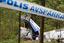 İsveç'te özel uçak düştü 1 kişi öldü