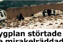 İsveç'te uçak düştü...VİDEO