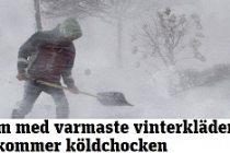 Kar ve Fırtına İsveç'e yeniden geliyor, hemde daha şiddetli