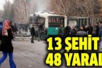 Kayseri Erciyes Üniversitesi önünde terör saldırısı