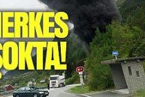 Norveç'te Facia! Benzin yüklü tanker tünele çarptı