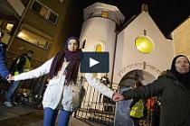 Danimarka saldırısına Müslümanlar, Norveç'te farklı bir  tepki gösterdi...VİDEO