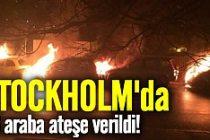 Stockholm'de 16 araç ateşe verildi!