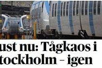 Stockholm'de trenlerde kaos yaşanıyor!