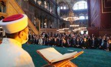 Ayasofya-i Kebir Cami-i Şerifi 86 yıl sonra kılınan cuma namazıyla ibadete açıldı