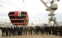 Türkiye'nin İstanbul Fırkateyni (F-515) törenle denize indirildi