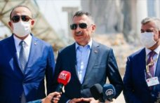 """Dışişleri bakanı Çavuşoğlu ve Cumhurbaşkanı yardımcısı Oktay Beyrut'ta: """"Türkiye her türlü destek vermeye hazır"""""""
